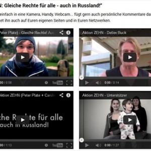 Aktion ZEHN: Gleiche Rechte für alle – auch in Russland!