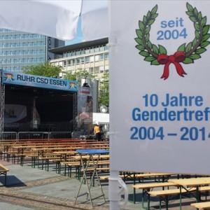 Gendertreff beim Ruhr-CSD 2014 in Essen